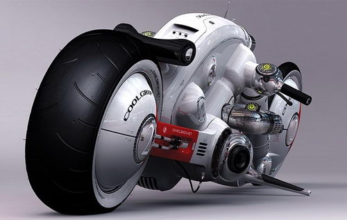 Cosmic Motors Detonator by Daniel Simon, futuristic concept bike, unique concept bike design, bike design, drag bike design, drag bike