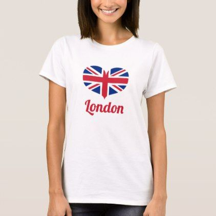Love London | Heart Shaped UK Flag / Union Jack T-Shirt - love gifts cyo personalize diy
