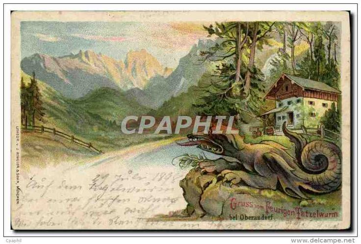CPA Gruss Vom Feurigen Tatzelwurm Bei Oberaudorf Dragon