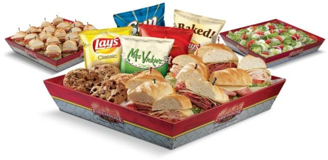 View the latest Firehouse Subs Catering prices for the entire Firehouse Subs Catering menu including: Subs, Desserts, Salads, Box Lunches, and Extras.