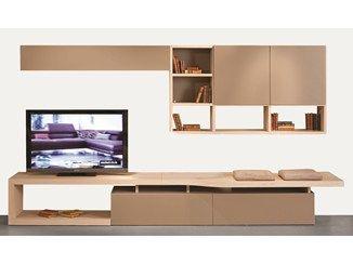 MDF TV wall system INTRALATINA | Storage wall - ROCHE BOBOIS