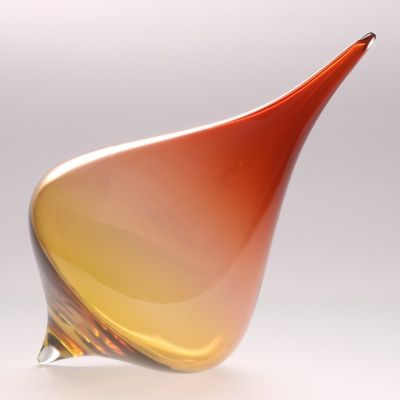 """""""Root"""" glass spinning top designed by artist Katy Holford"""