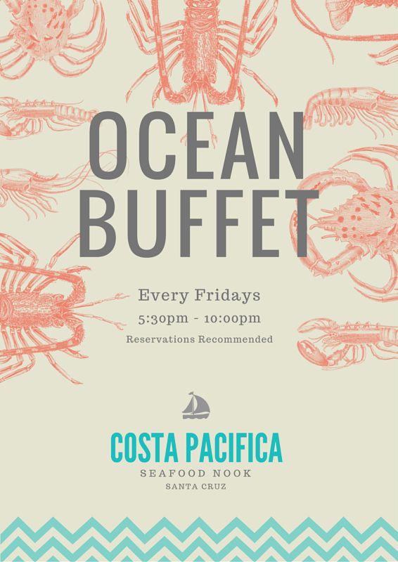 Seafood Restaurant Promotion A4 Flyer - Canva