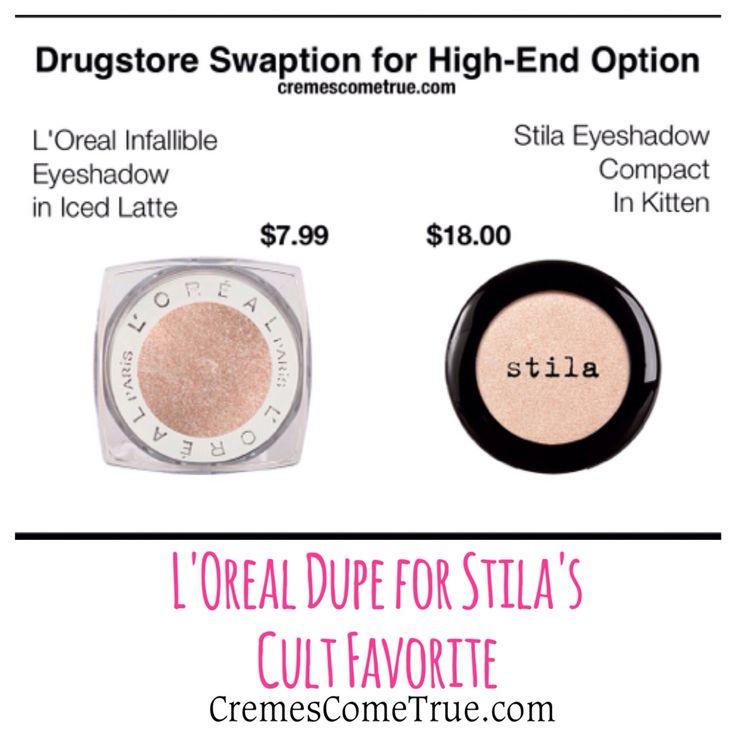Loreal eyeshadow dupe for Stila Kitten