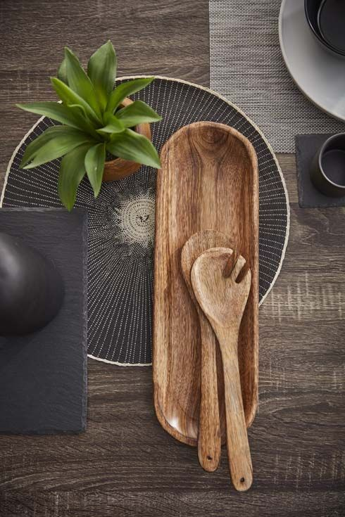 Accent Your Living E With This Decorative Plate Made Of Striking Mango Wood Chosen For