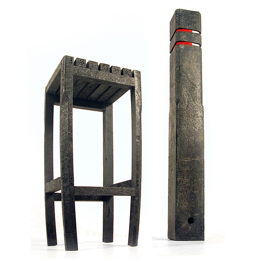 Re Recycled   Vladi Rapaport, 2007 [bar Stool Made From Recycled Barrier