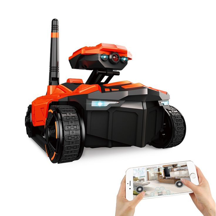 ATTOP YD-211 Wifi FPV 0.3MP HD Camera App Controle Remoto Espião tanque RC Brinquedo Telefone Brinquedos Robô Controlado ABS Longo Tempo de Trabalho