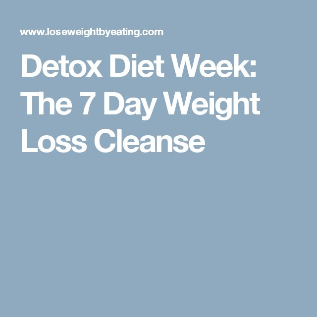 7-day weight loss cleanse