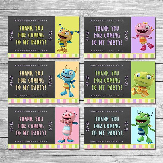 Henry Hugglemonster Party Tags Chalkboard // by ItsACowsOpinion
