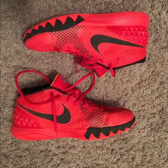 Kyrie 1 deceptive red 7y Kyrie 1 basketball shoe, deceptive red color way. The second Kyrie Irving shoe release. Size 7 y. Rare color way no longer made and sold Nike Shoes Athletic Shoes