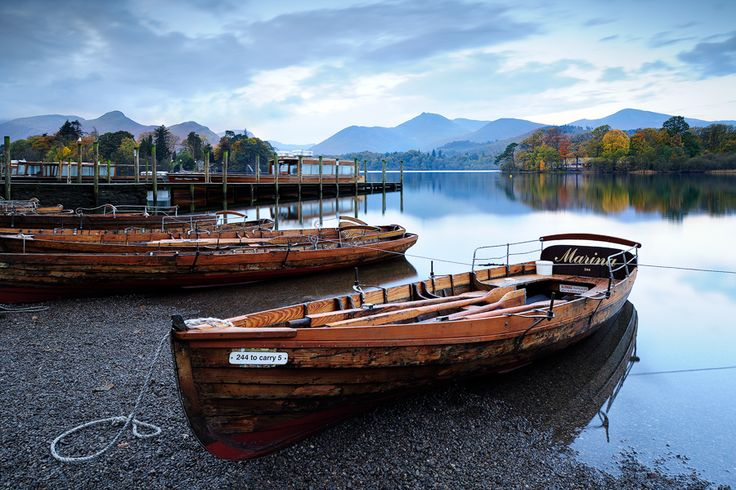 John Robinson: Autumn Reflections, Derwent Water: John Robinson, Autumn Reflection, Wooden Boats, Digital Photo, Woods Boats, England Trips, Roads Trips, Derwent Water, Amazing Boats