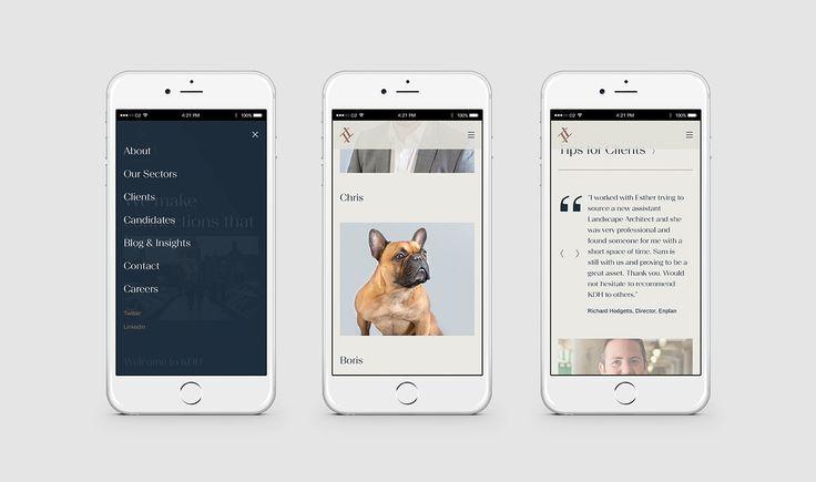 Digital Design – Responsive Website Design – KDH Associates - Steve Edge Design
