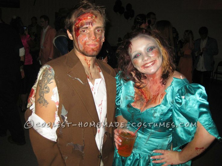 Coolest Prom Zombies Couple Halloween Costumes