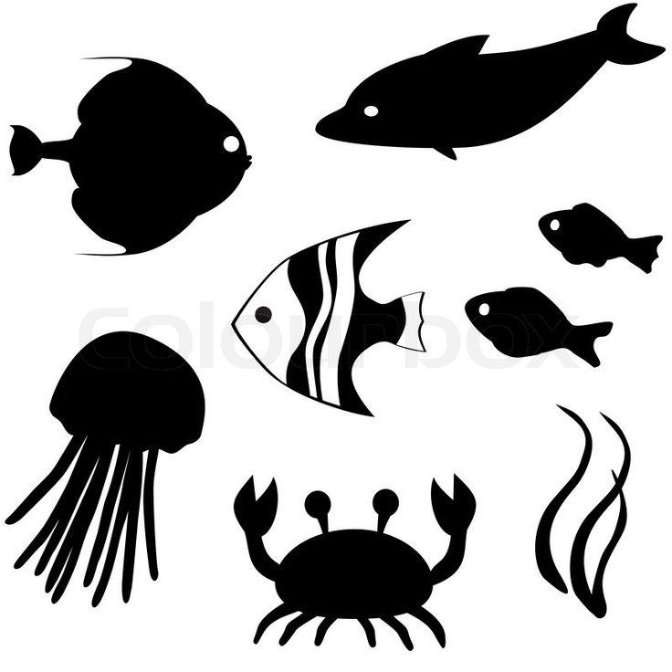 silhouette fisch  googlesuche  fisch silhouette fische