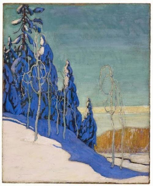 cinque-del-mattino: Arthur Lismer 'A Clear Winter' via ein-bleistift-und-radiergummi