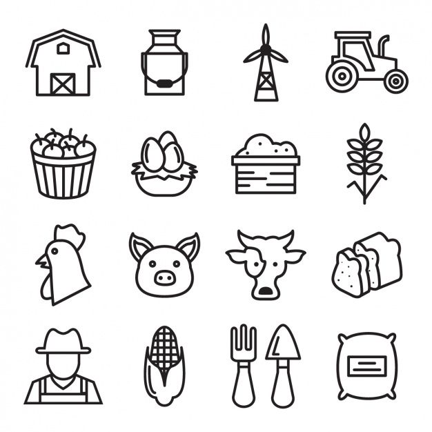 Download Farm Icons Collection For Free Icon Collection Simple Graphic Vector Free