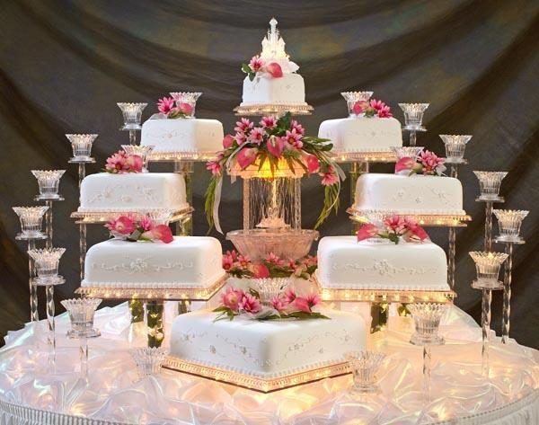 tortas de matrimonio cuadradas