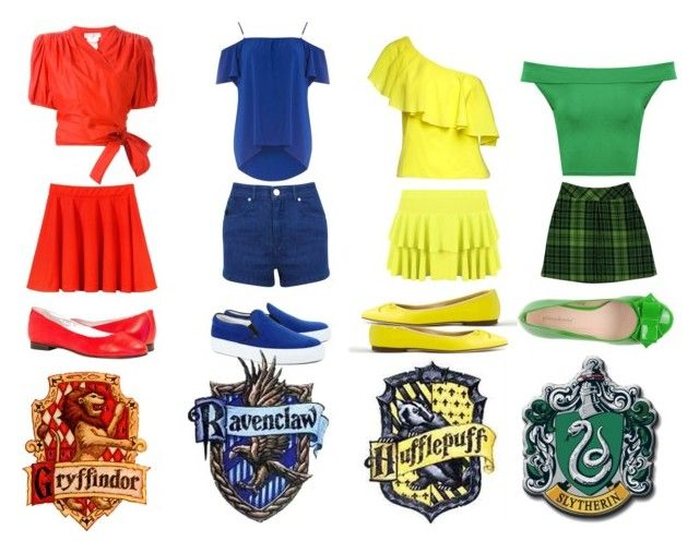"""""""Harry Potter Casual House Outfits"""" by aphroditegirl ❤ liked on Polyvore featuring Yves Saint Laurent, Dorothy Perkins, Miss Selfridge, Amb Ambassadors of minimalism, Alice + Olivia, WearAll, J.Crew, Anna Sui, PrimaDonna and harrypotter"""