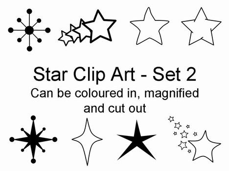 here is another set of star clip art in PowerPoint