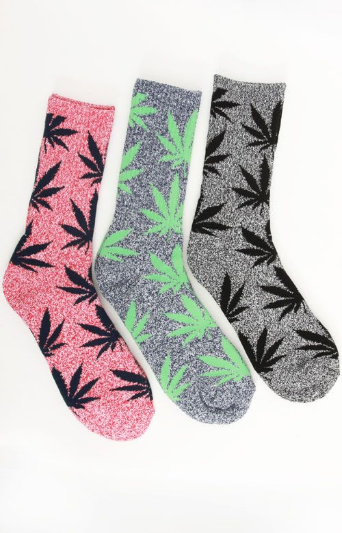 Plantlife Crew Socks by Huf. Socks come in one selected pair.