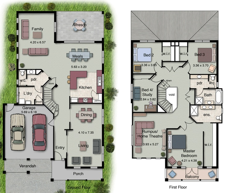 25+ Parasta Ideaa Pinterestissä: Double Storey House Plans