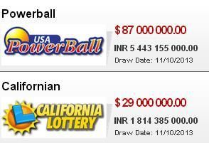 Are u ready the Play the game of luck and excitement online.  Play the Top 2 Lotteries of the world Online Today At #playlottoworld i.e. Powerball $ 87 000 000.00 Californian $ 29 000 000.00 For your chance to win Visit www.playlottoworld.com