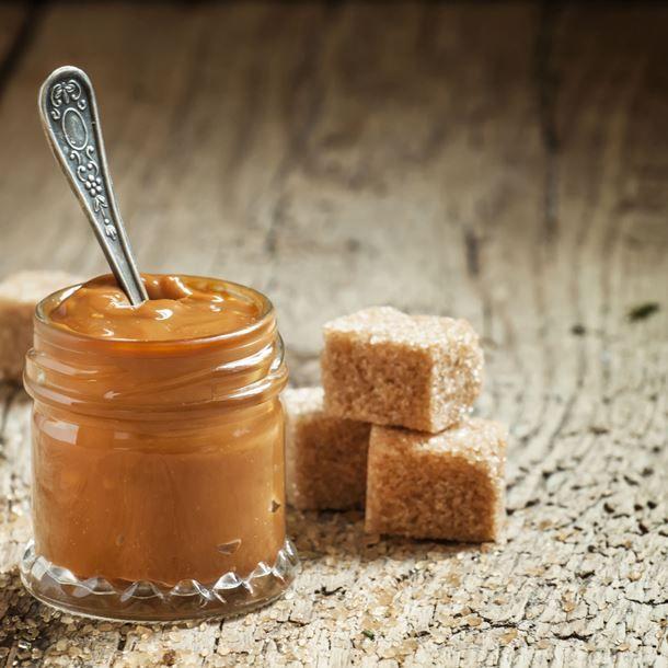 Crème au caramel et beurre de cacahuètes