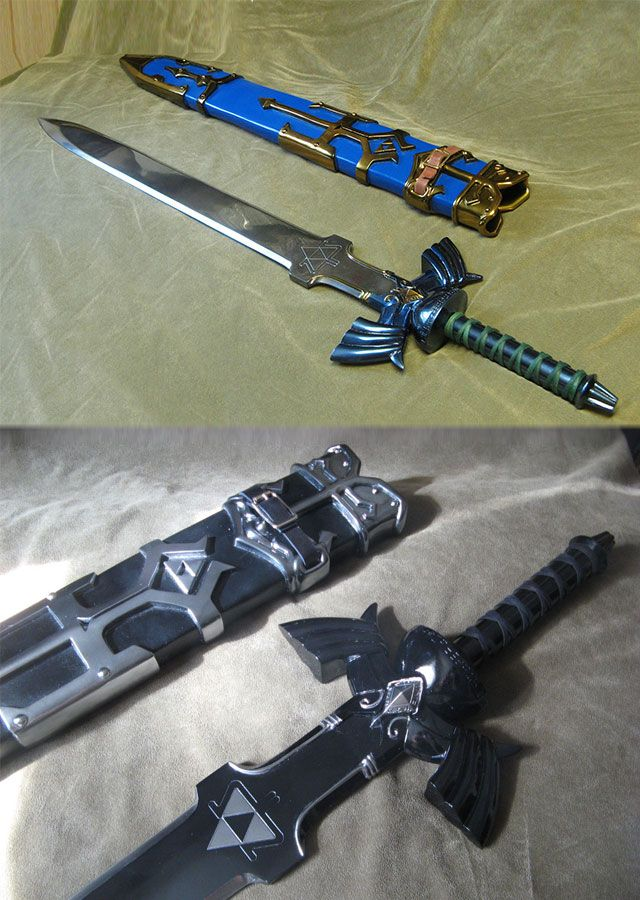 Strike down the mightiest of foes with this incredible Zelda Master Sword fiberglass replica. This one of kind cosplay sword was masterfully designed to...