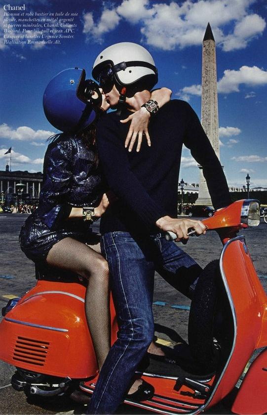 """Paris Mon Amour"" Aymeline Valada and Clement C by Mario Sorrenti for Vogue Paris"