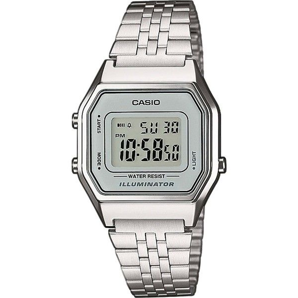 Casio Unisex silver digital watch (105 BRL) ❤ liked on Polyvore featuring men's fashion, men's jewelry, men's watches, mens digital watches, casio mens watches, mens silver watches and retro mens watches