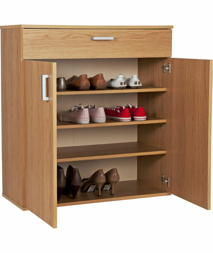 Buy venetia shoe storage unit oak effect at for Bedroom units argos