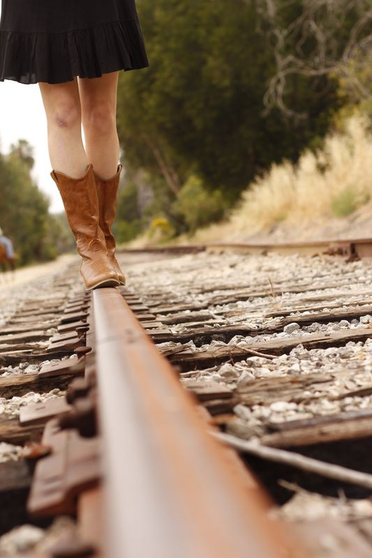 definitely taking some pictures on railroad tracks...