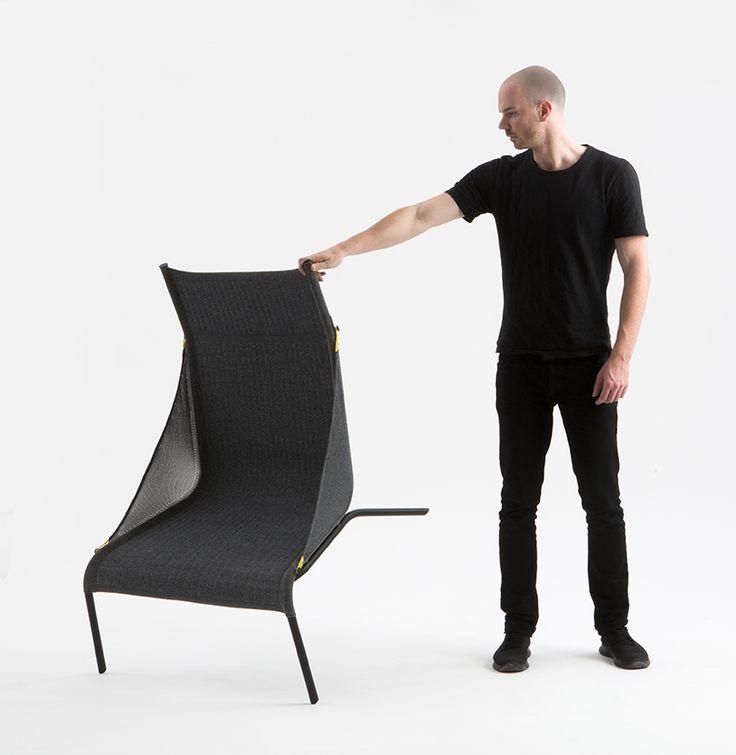 Benjamin Hubert Tent Chair For Moroso At Salone Del Mobile 2017 · Zelt Stuhl