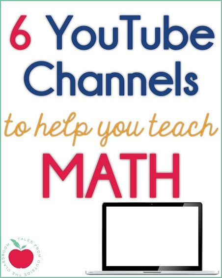 6 YouTube Channels with instructional videos for Math.