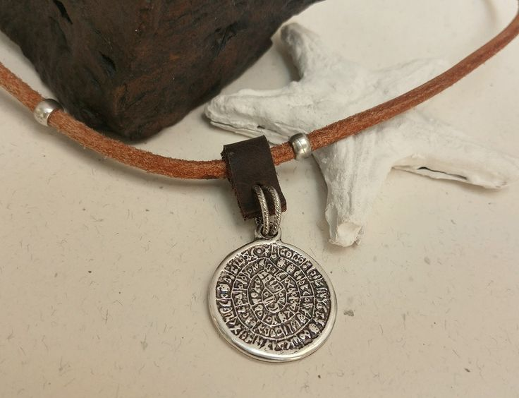 Mens Coin Necklace, Old Coin Pendant, Greek Coin Necklace, Coin Jewelry, Leather Coin Pendant, Leather Money Jewelry, Mens Money Pendant