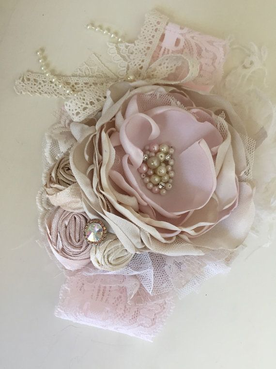 Baby Girl Headband Flower Girl Headband by AvryCoutureCreations