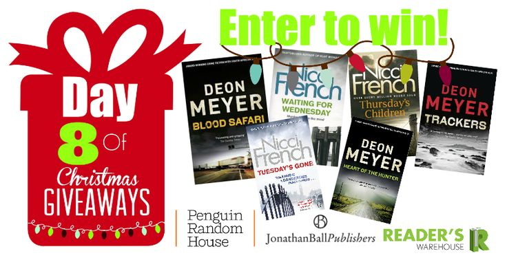 This Day 8 Hamper contains books to give you serious thrills this Festive Season. Sponsored by @PenguinBooksSA & @JonathanBallPub. Enter here: https://gleam.io/M0YBk/day-8-of-christmas-giveaways