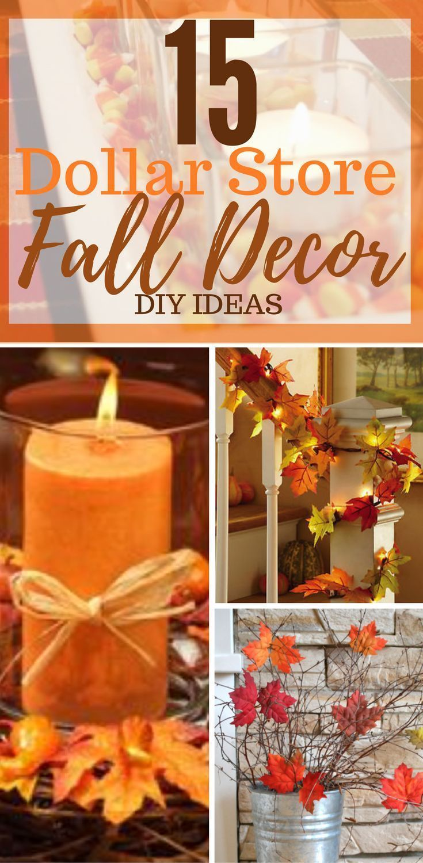 15 Dollar Store Fall Decorations DIY – #Decoration…