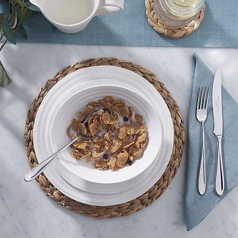 Buy Sophie Conran for Portmeirion Cereal Bowl, White, 18.5cm Online at johnlewis.com