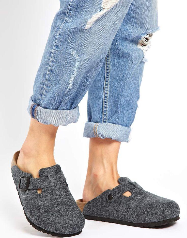 Image result for grey wool birkenstock sandals
