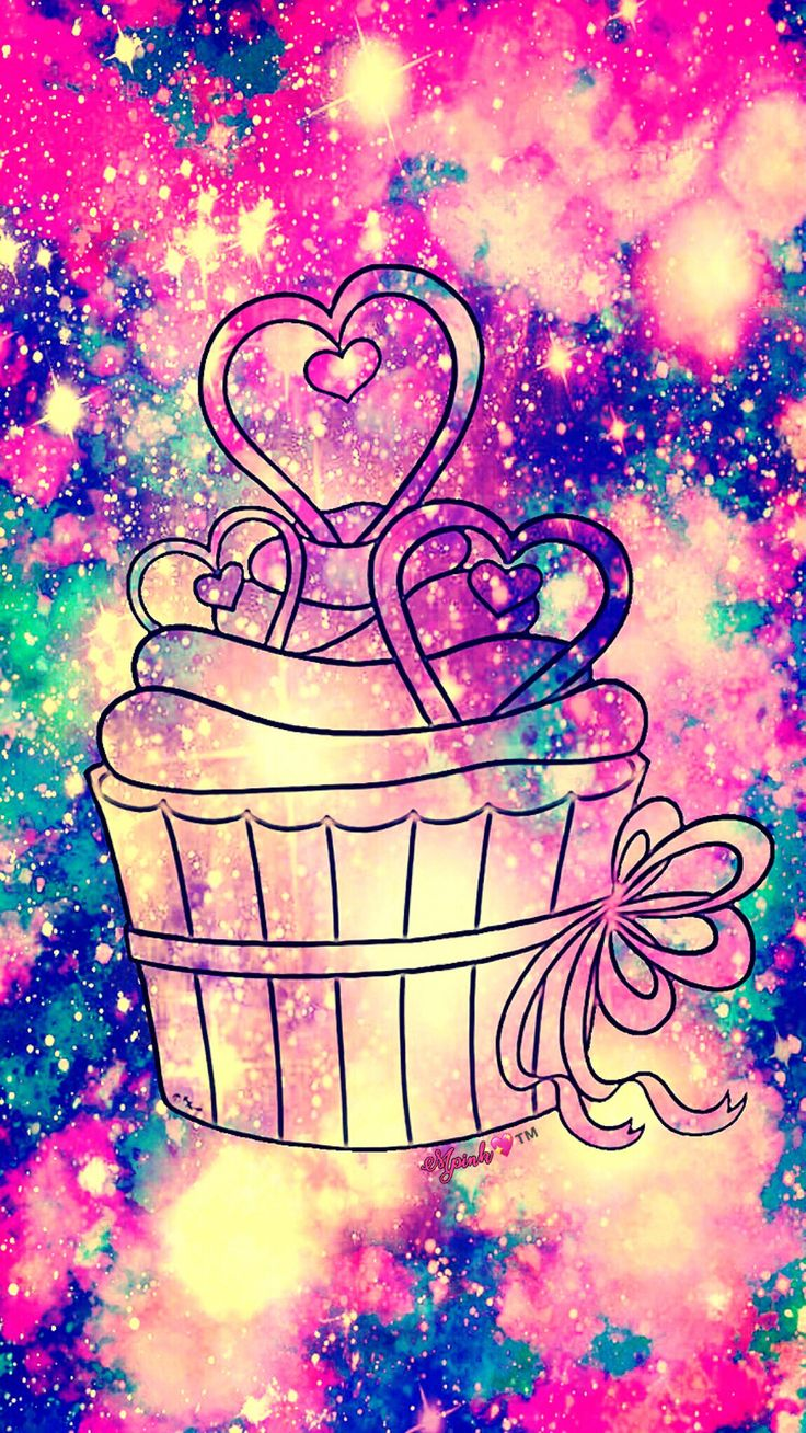 Cute Cupcake Galaxy Wallpaper Androidwallpaper