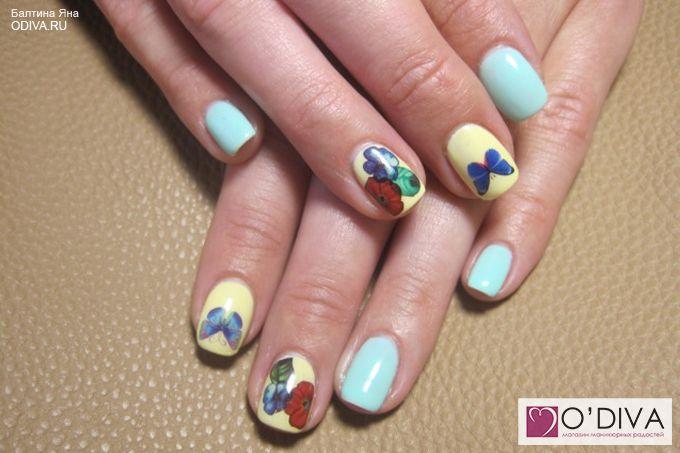 Слайдер дизайн/водные наклейки (цветы М47) http://odiva.ru/~o0fwO  #водныенаклейки #наклейкидляногтей #слайдердизайн #наклейкинаногти #дизайнногтей #ногти #идеиманикюра #маникюр
