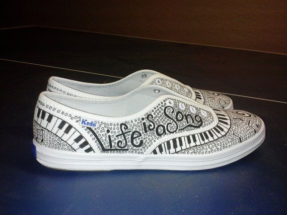 Keds Custom Music Shoes Any Size by AbileneCreations on Etsy, $65.00