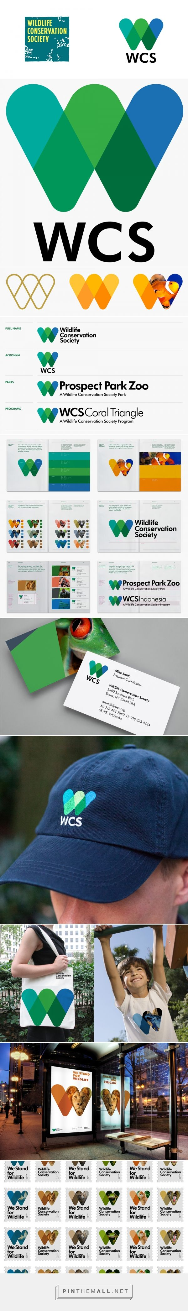 Brand New: New Logo and Identity for Wildlife Conservation Society by Pentagram…