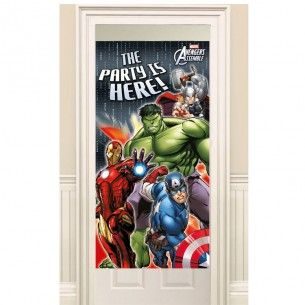 Avengers Heroes Door Banner - Decorations & Games - Superhero Parties - Party Themes A-Z - Kids' Party