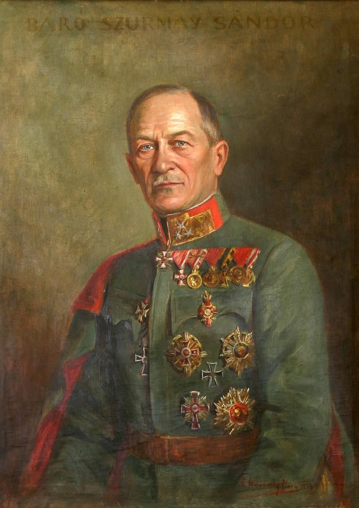 Vitéz Baron Sándor Szurmay de Uzsok (19 December 1860 – 26 February 1945) was a Hungarian military officer and politician, who served as Minister of Defence for the Hungarian portion of the Dual Monarchy of Austria-Hungary between 1917 and 1918.