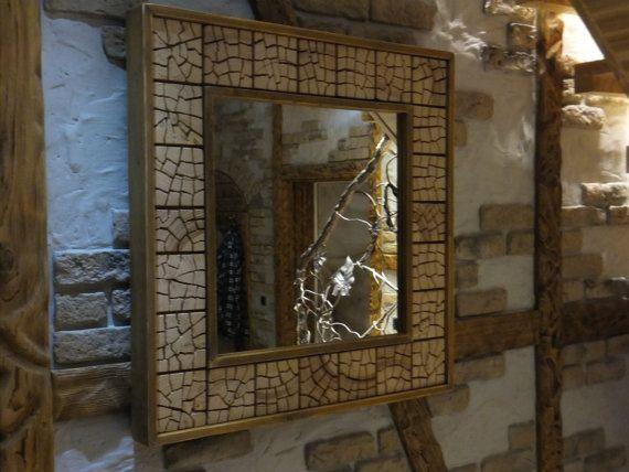 Einzigartige rustikale Holz Spiegel 32 x 32 von UniqueWoodArtwork