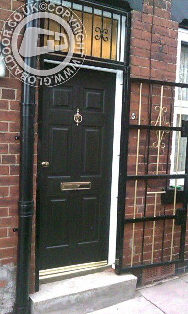 black-6-panel-global-composite-door-gold-hardware & 28 best Stuff to Buy images on Pinterest | Front doors Black ... pezcame.com