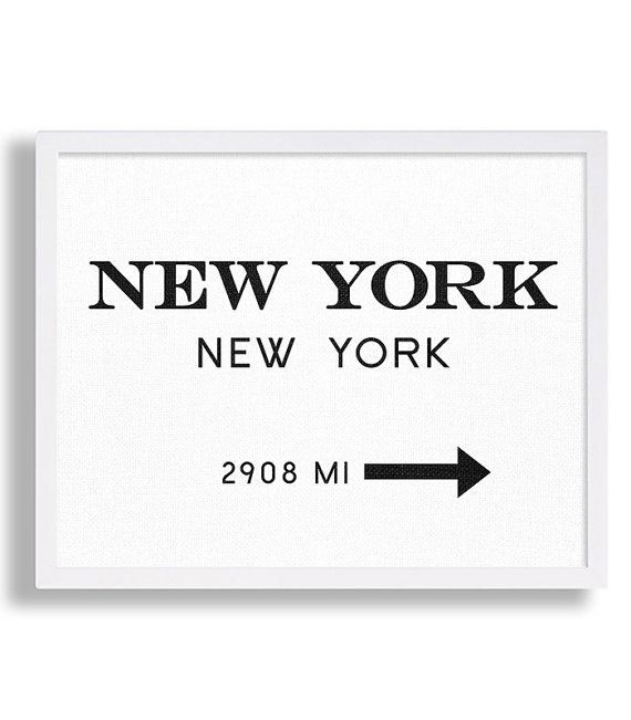 New York City Print Typography Art Print Gift von MetropolisPrints