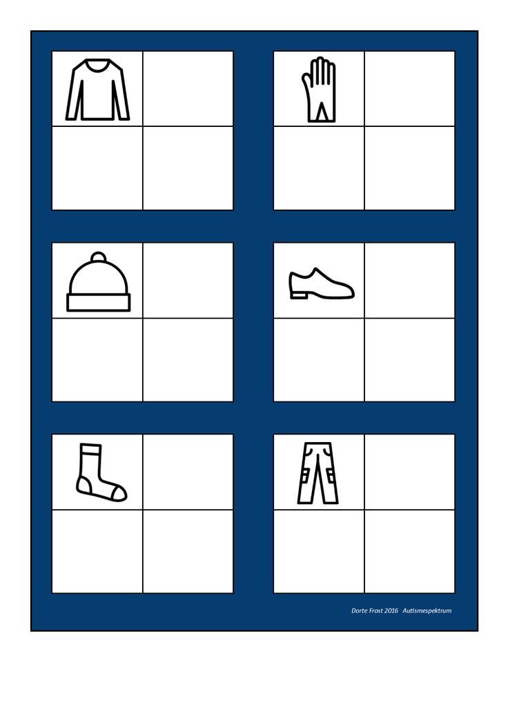 Board for the clothes sorting game. Find the belonging tiles on Autismespektrum on Pinterest. By Autismespektrum